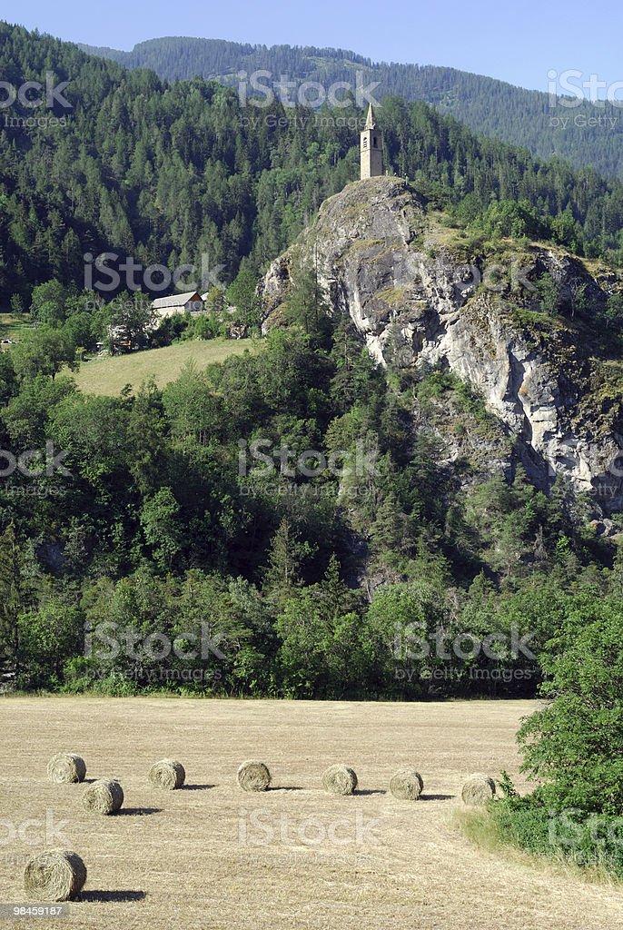 컬렉 델라 마달레나 (Col du Larche), 프랑스령 알프스와도. 여름 풍경을. royalty-free 스톡 사진