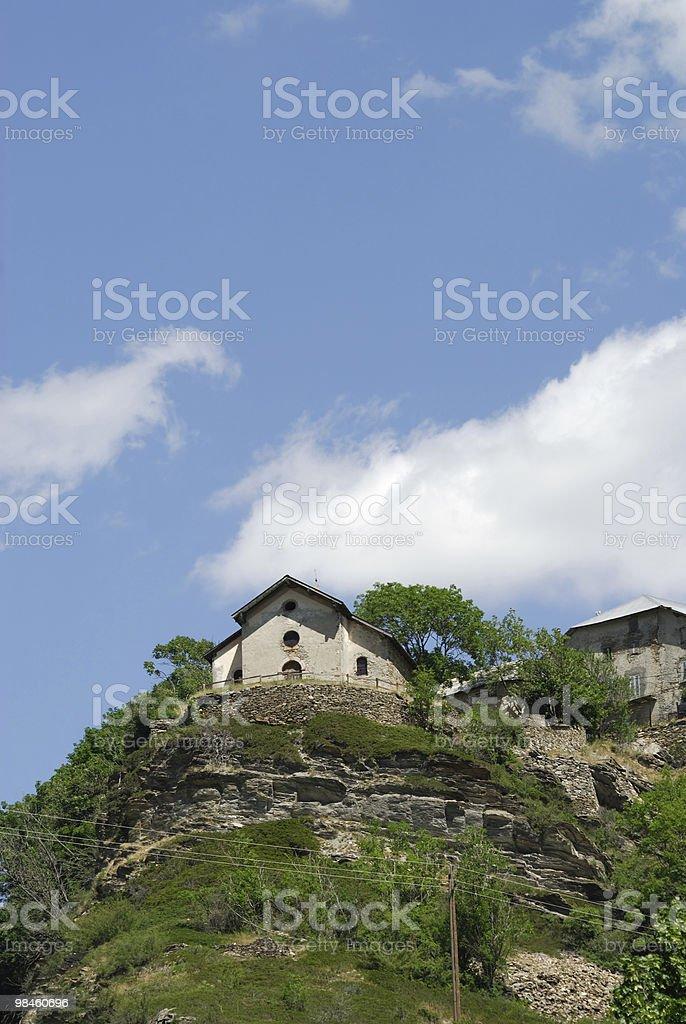 Colle della Maddalena (Col du Larche), Little church royalty-free stock photo