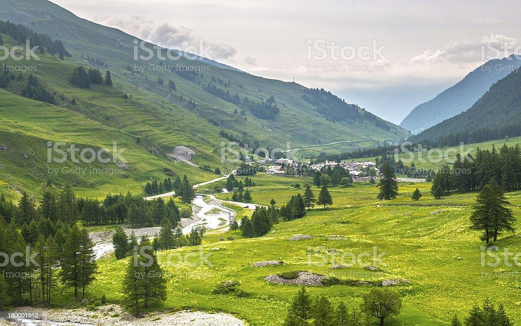 컬렉 델오로'Agnello, Val Varaita royalty-free 스톡 사진