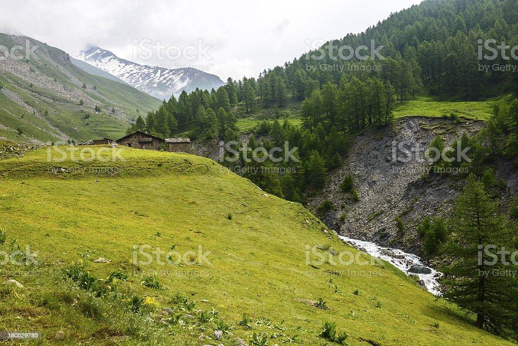Colle dell'Agnello, Val Varaita royalty-free stock photo