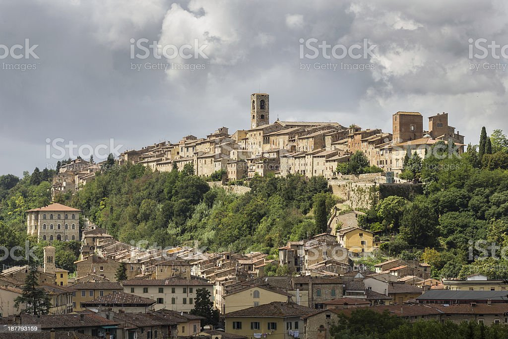 Colle di Val d'Elsa, the city of crystal, Tuscany stock photo