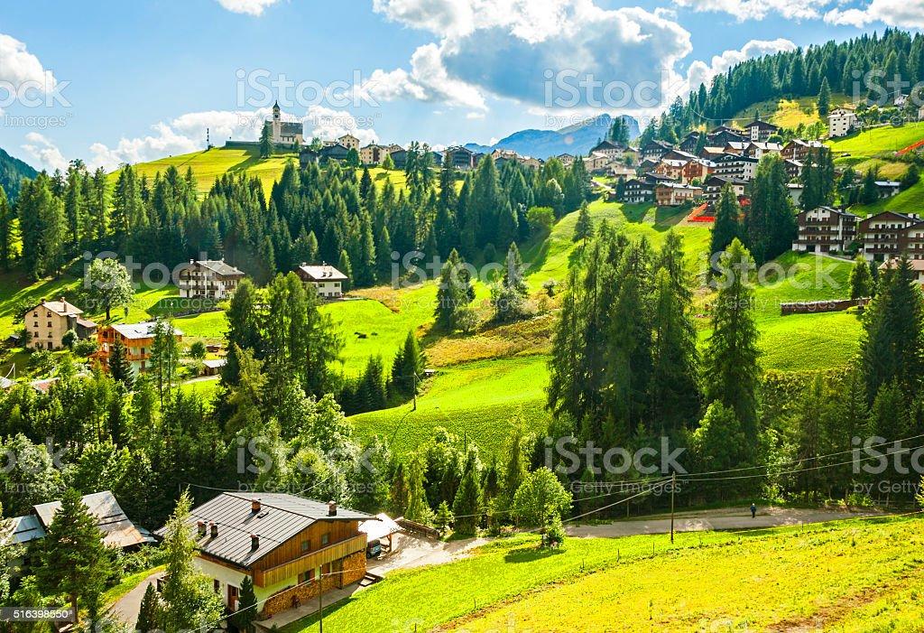 Colle Santa Lucia, Dolomites stock photo