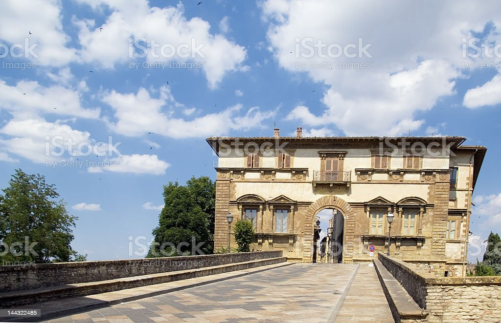 Colle val d'elsa, Tuscany stock photo