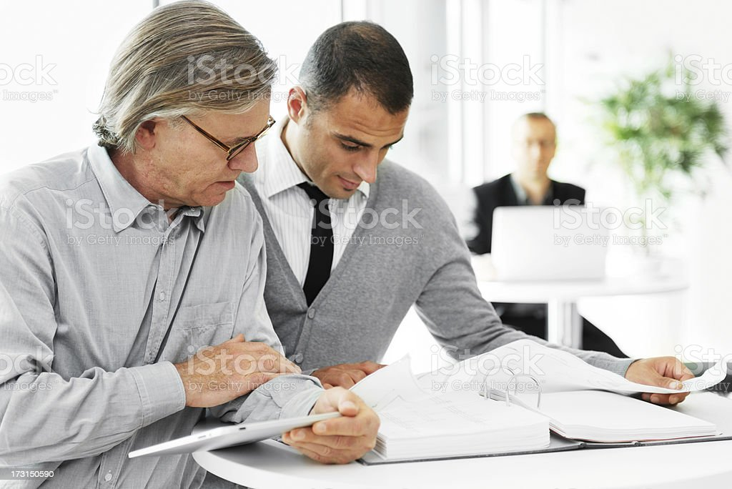 Colleague working royalty-free stock photo
