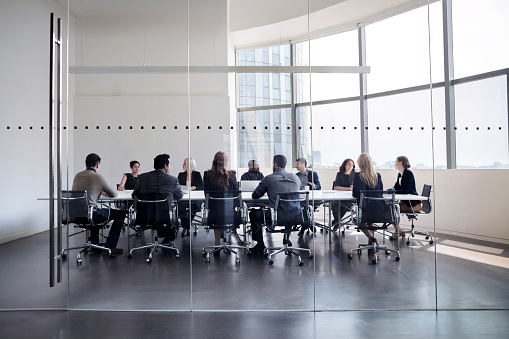 istock Colleagues at business meeting in conference room 618946910