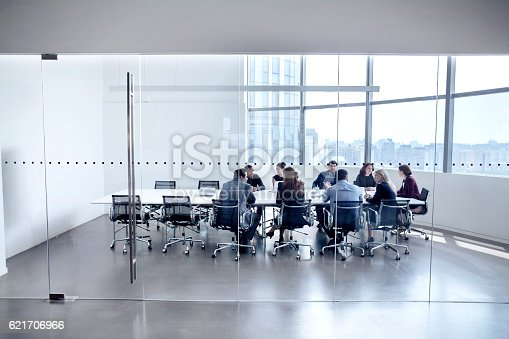 istock Colleagues at business meeting in conference room 621706966