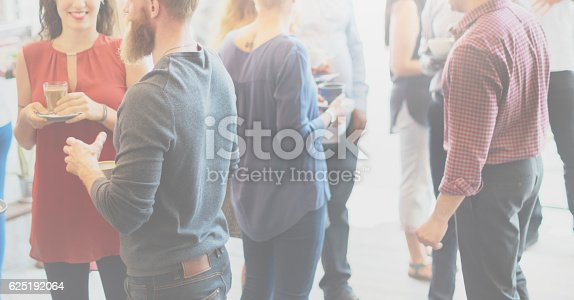 istock Colleagues Buffet Party Brunch Dinning Concept 625192064