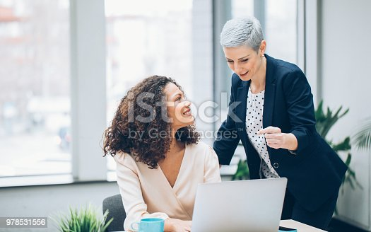 Colleagues business woman working together in the office
