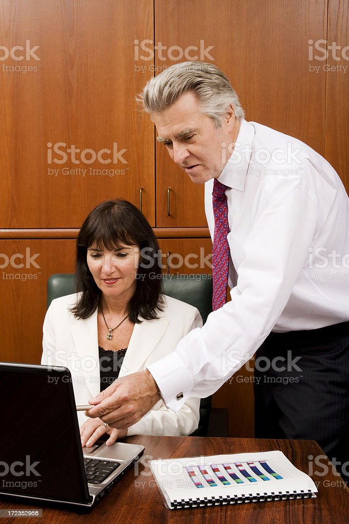 Colleagues Collaborating royalty-free stock photo