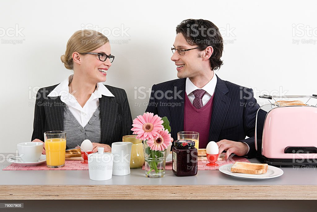 Colleagues having breakfast 免版稅 stock photo