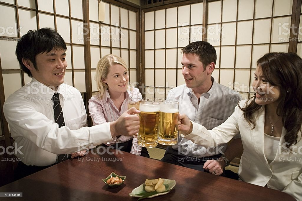 Colleagues in a bar stock photo