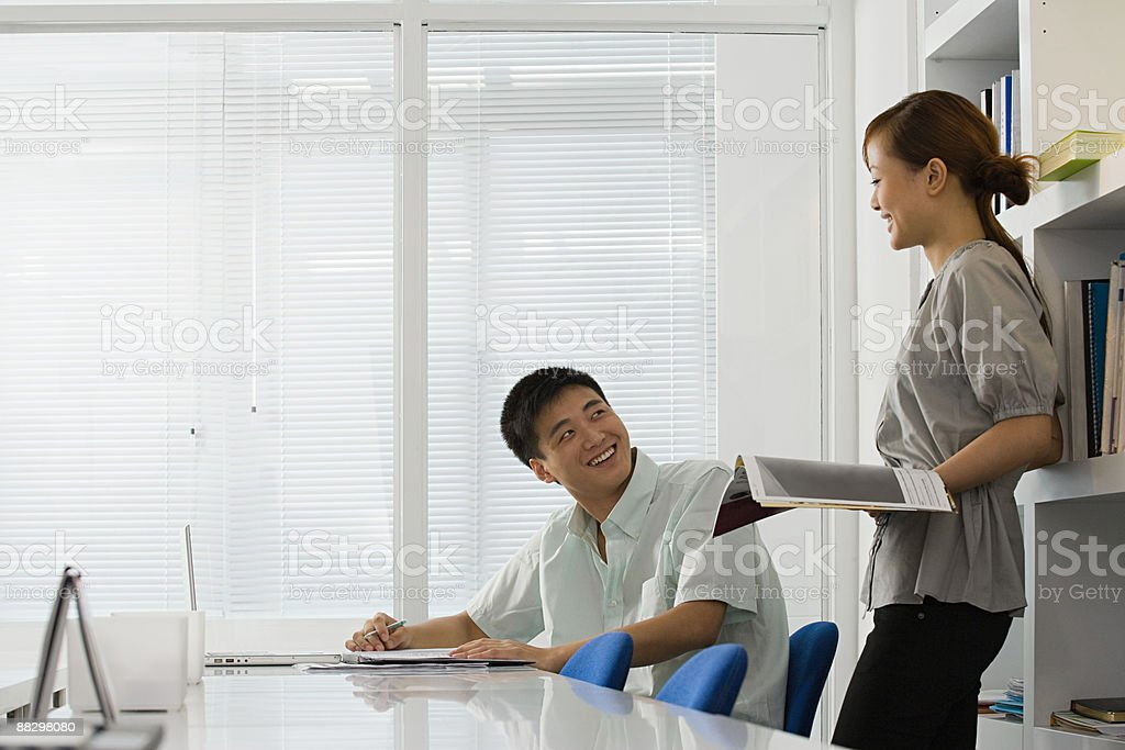 Colleagues in office 免版稅 stock photo