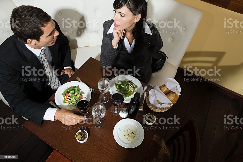 Colleagues in restaurant 免版稅 stock photo