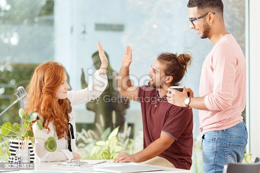 842214626 istock photo Colleagues in the open space 902813812