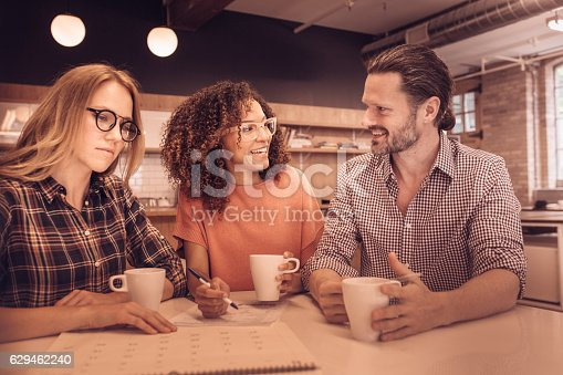 istock Colleagues meeting 629462240