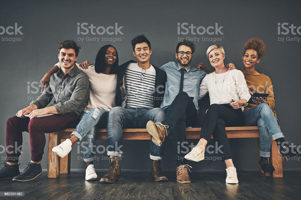 Colleagues that have become friends stock photo