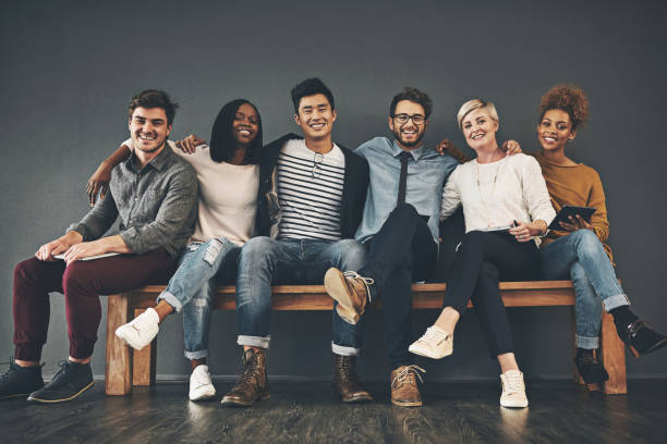 colleagues that have become friends - millennial generation stock photos and pictures