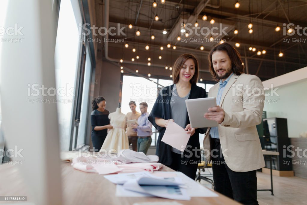 Colleagues Working In Fashion Design Studio Office Stock Photo Download Image Now Istock