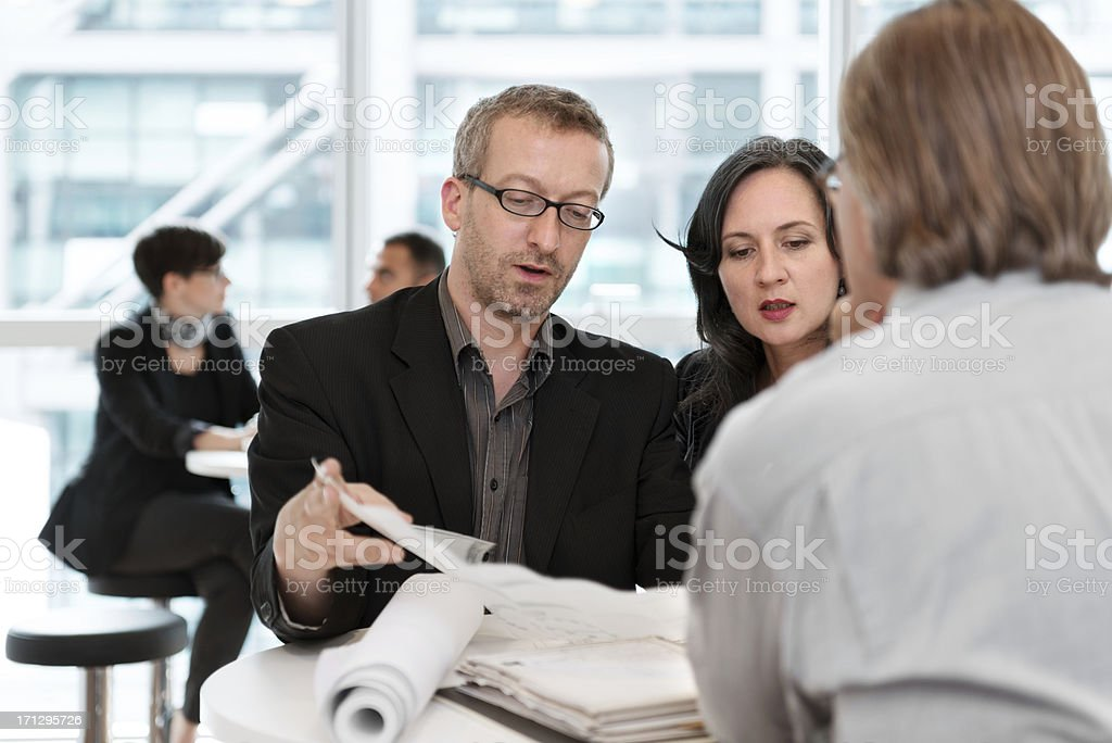 Colleagues working together royalty-free stock photo