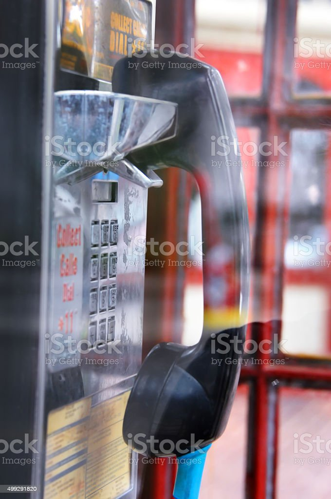 Collect Call Vintage Style stock photo
