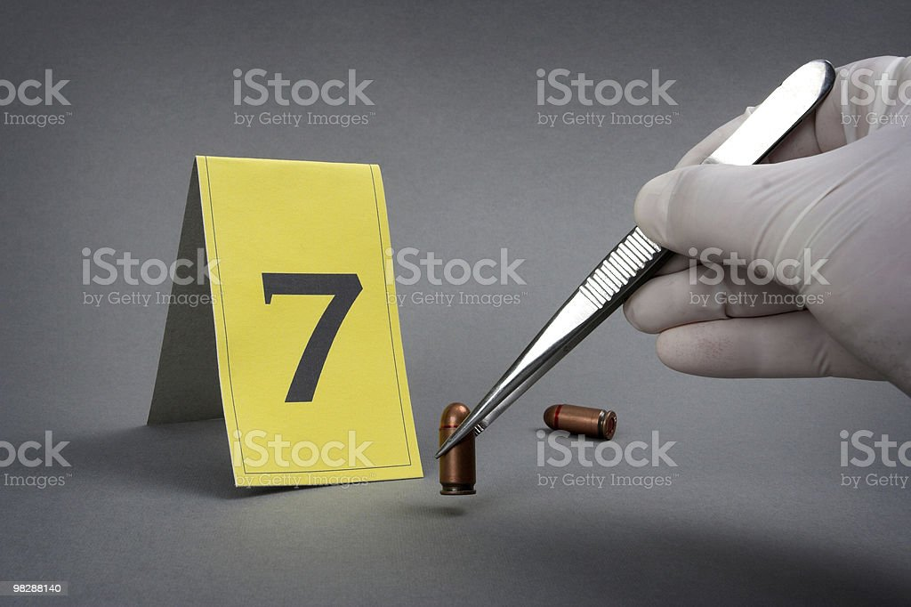 collect evidence royalty-free stock photo
