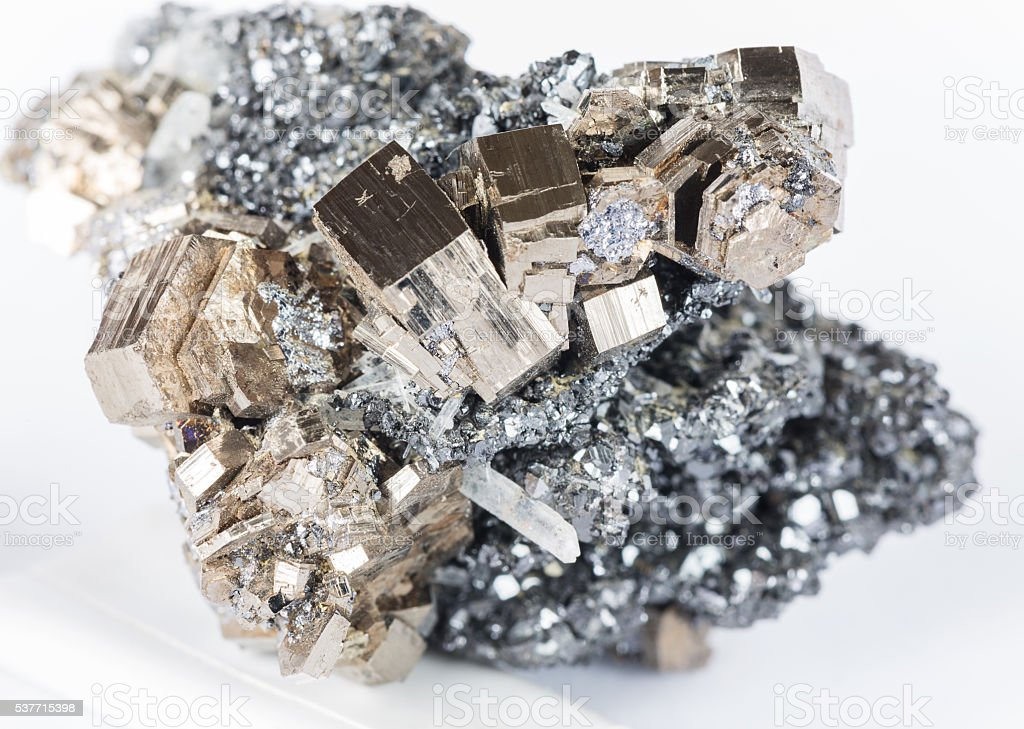 Collectible pyrrhotite specimen stock photo