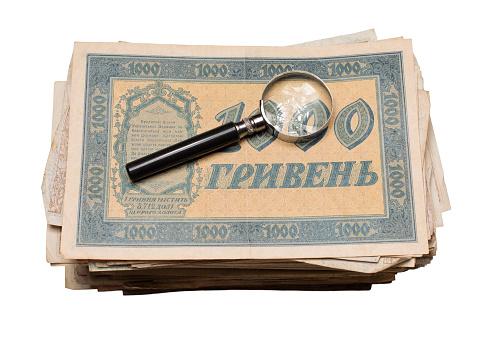수집품들을 선보이는 동전 Banknotes 어워드란 0명에 대한 스톡 사진 및 기타 이미지