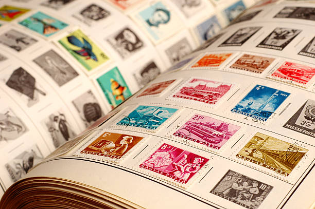 Collecting Vintage Stamps - #1 stock photo