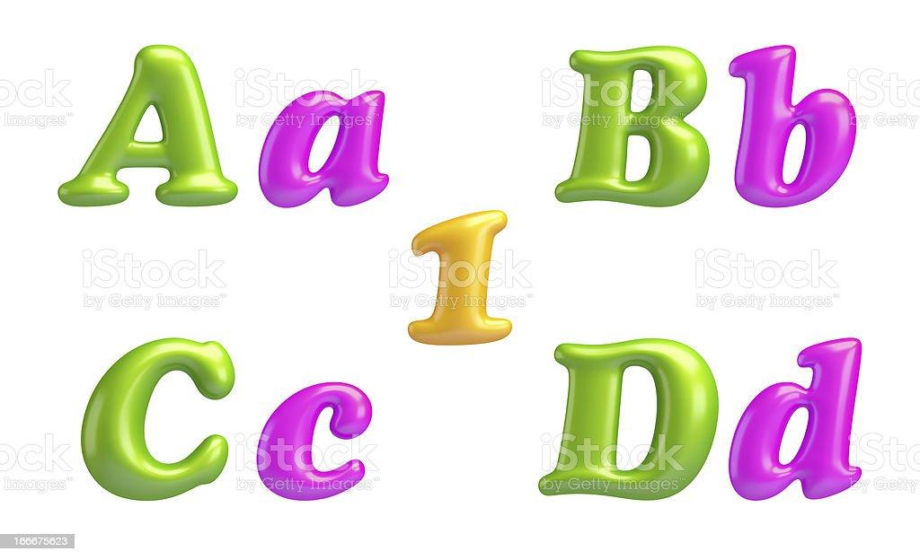 ABC collection. Alphabet 3D Font creative. stock photo