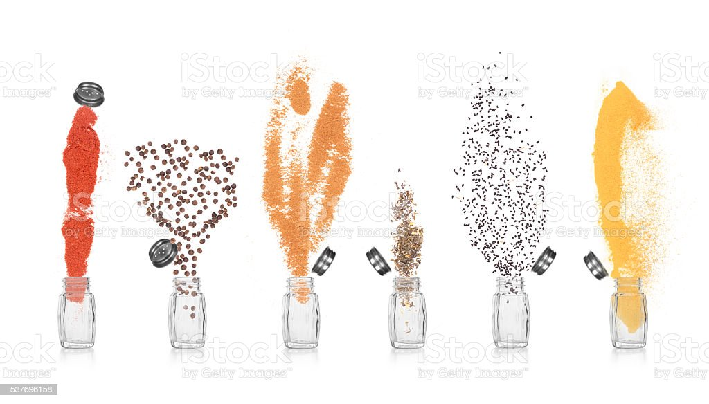 collection Empty salt and pepper shakers stock photo