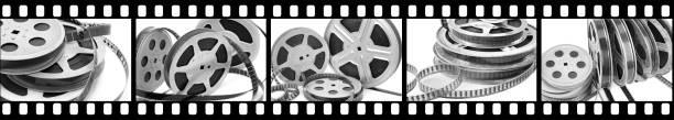 kollektion-der film im rahmen - nachrichten video stock-fotos und bilder