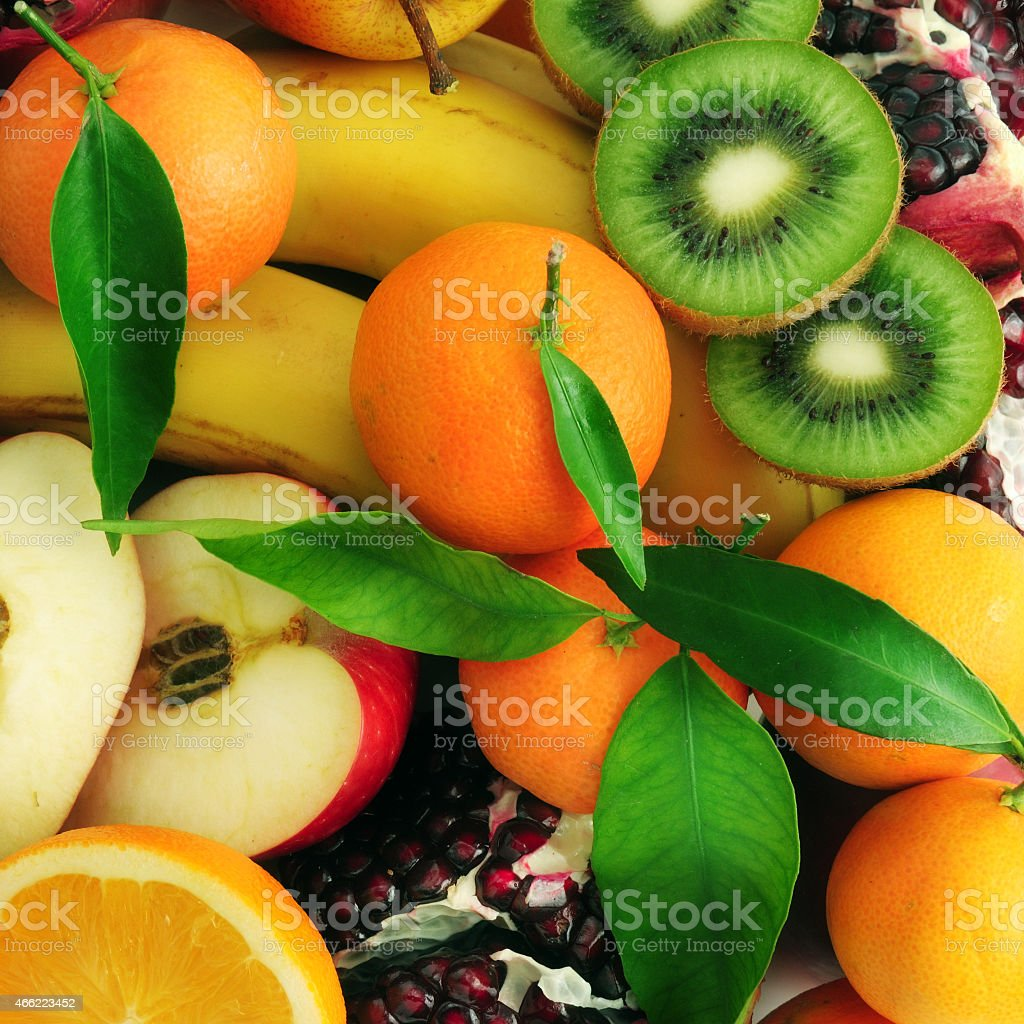 collection fruits stock photo