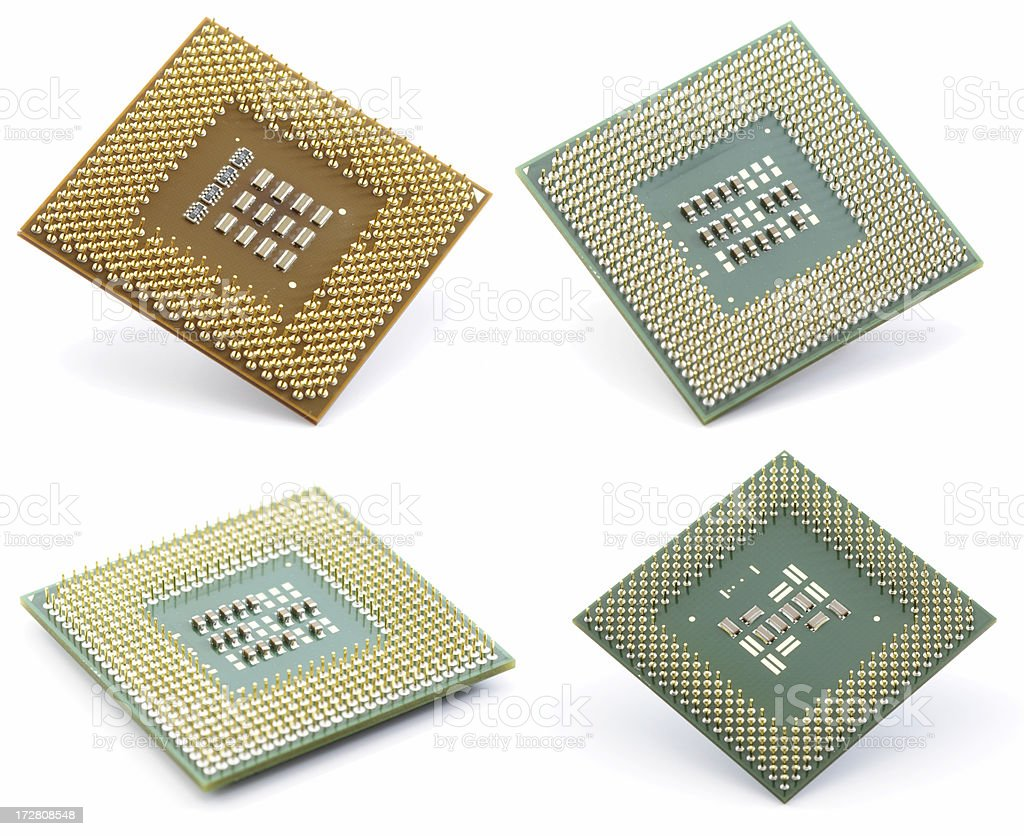 CPU collection isolated on white royalty-free stock photo