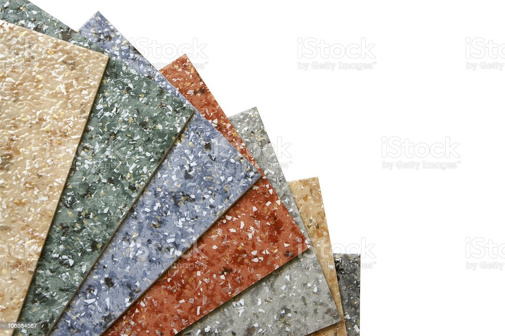 Collection multicolored linoleum stock photo