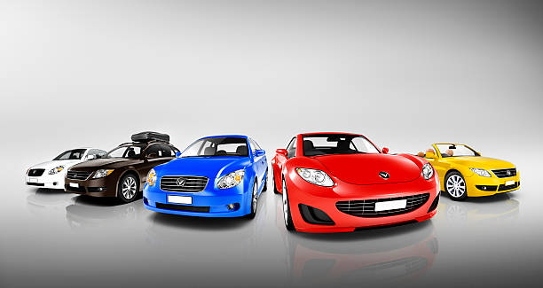 Collection of 3D Colourful Vehicles Collection of 3D Colourful Vehicles car show stock pictures, royalty-free photos & images