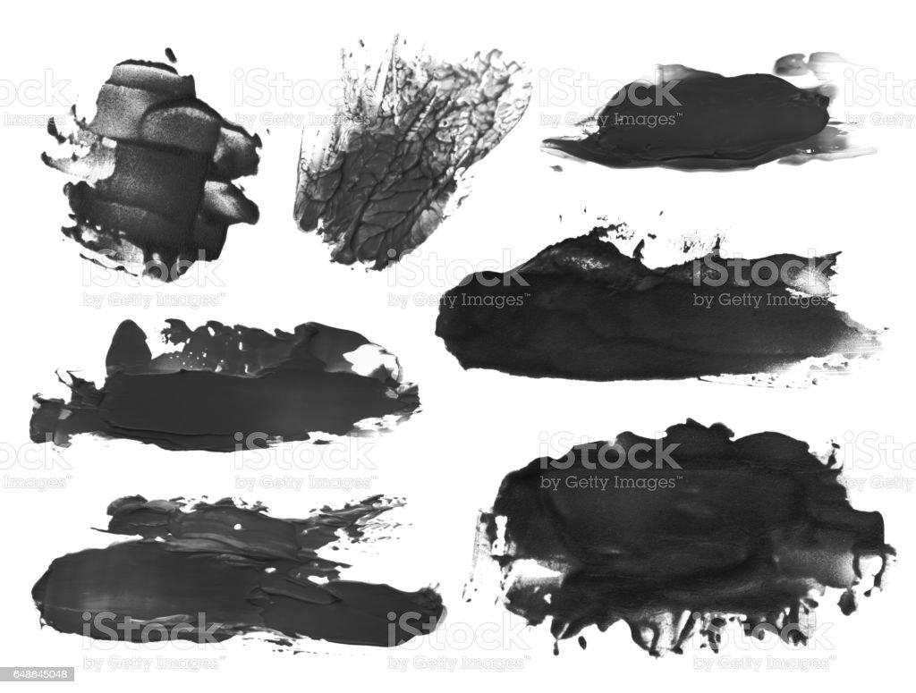 coleção de pinceladas acrílica abstrato borrões - foto de acervo