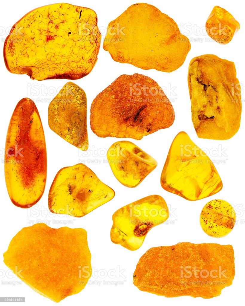 Collection of amber stock photo