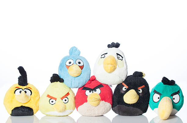 Collection of Angry Birds stock photo