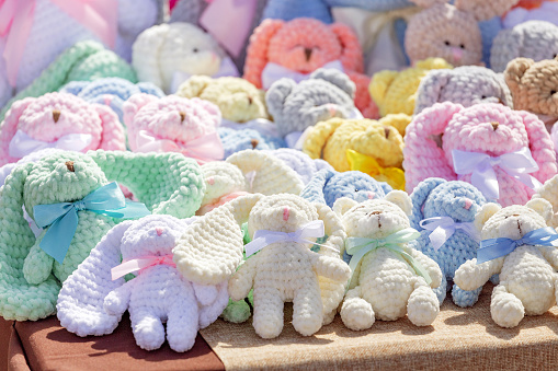 09 MAY 2018, UFA, RUSSIA: Collection of animal Cute soft toys