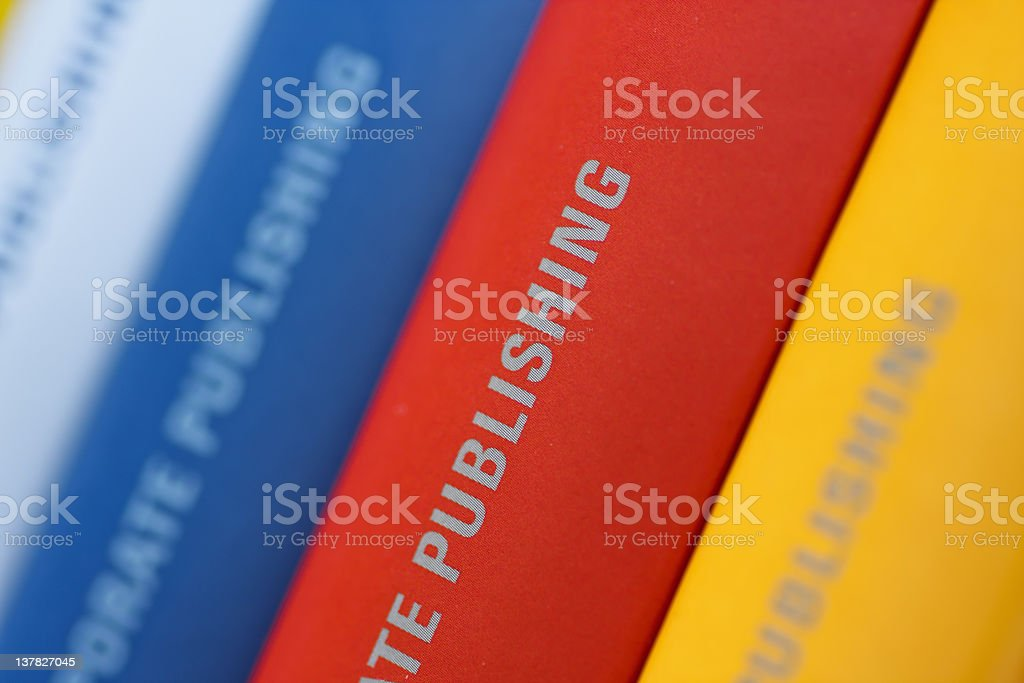 Collection of Annual reports royalty-free stock photo