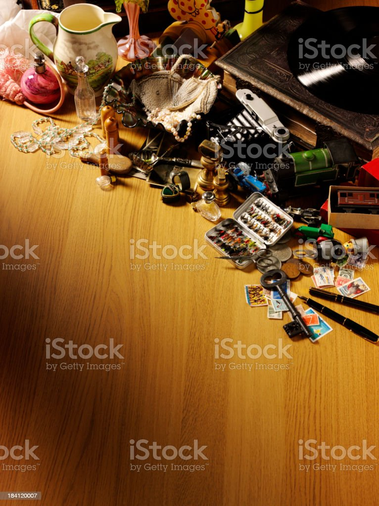 Collection of Antiques and Collectables royalty-free stock photo