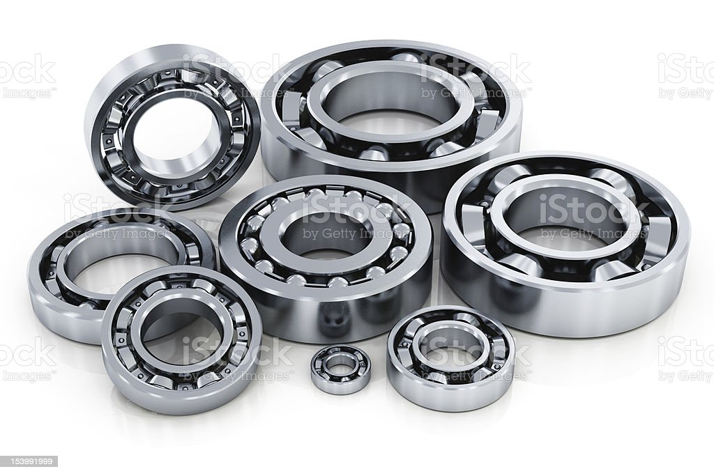 Collection of ball bearings royalty-free stock photo