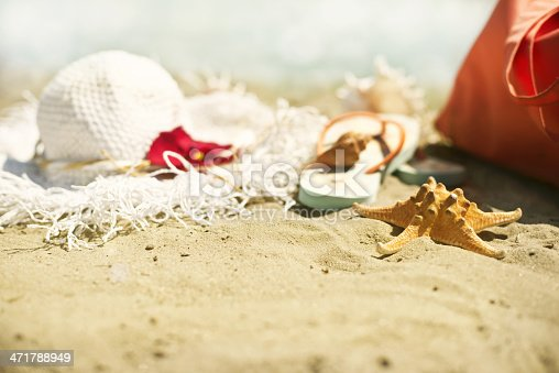 istock Collection of beach items 471788949