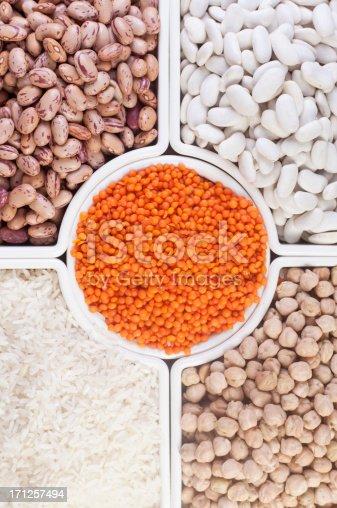 Collection of Beans, Legumes, Peas, Lentils