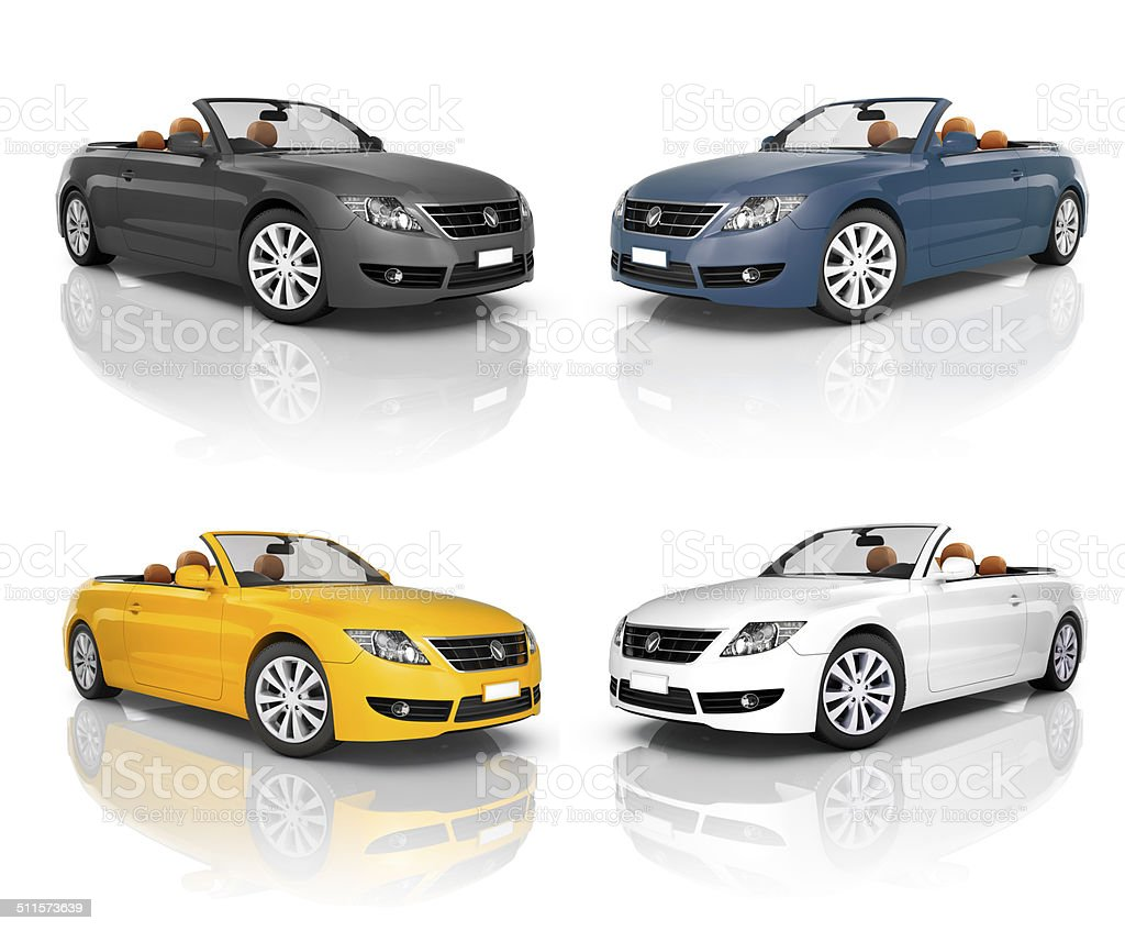 Collection of Beautiful Modern Cars stock photo