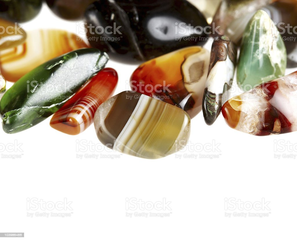 collection of beautiful precious stones royalty-free stock photo