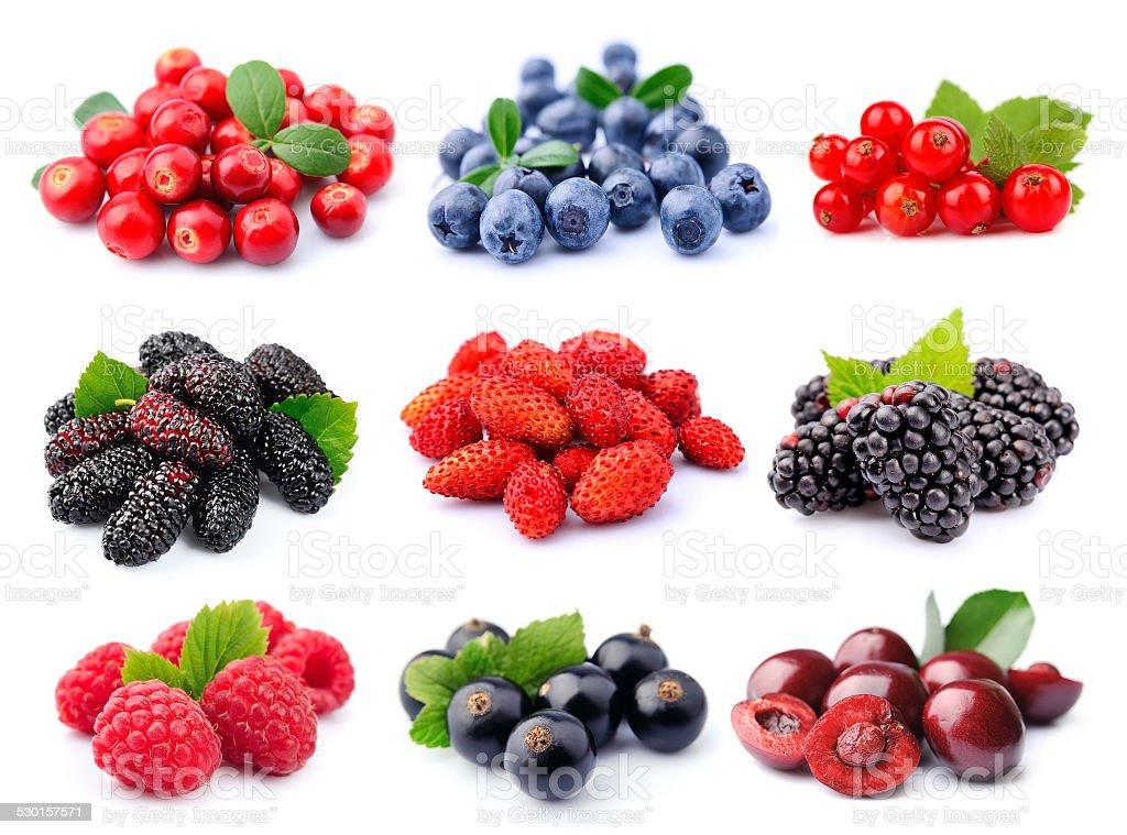 Coleção de frutas vermelhas - foto de acervo