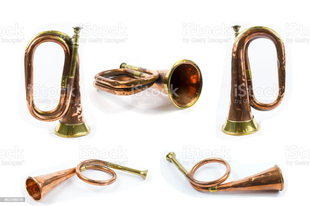 Collection of Brass Horns stock photo