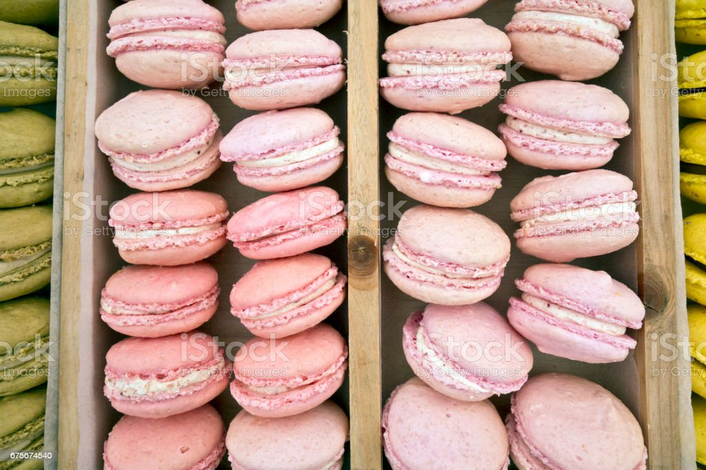 Collection of Bright Coloured Macaroons at Food Festival royalty-free stock photo