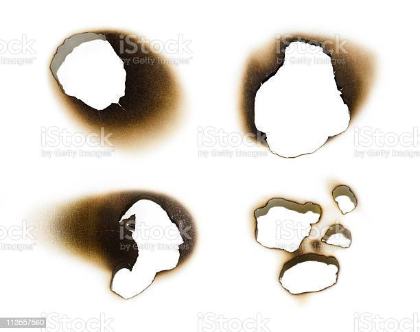 Photo of Collection of burnt holes